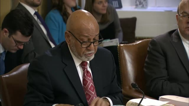 congressman alcee hastings of florida at a house rules committee mark up of the american health care act engages house energy and commerce committee... - medicaid stock videos and b-roll footage