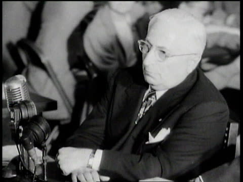 congressman asking louis b mayer what he thinks of people of affluence in the united states who have turned to communism / mayer replying i think... - house committee on unamerican activities stock videos & royalty-free footage