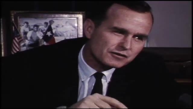 congressman george h w bush opposes the gun control act of 1968. - 連邦議会議員点の映像素材/bロール