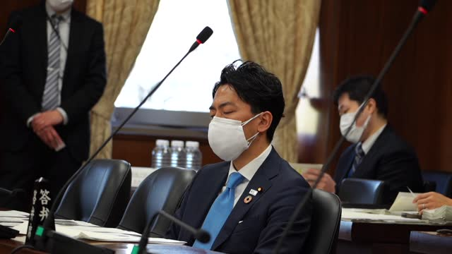 congressman of the constitutional democratic party, tomohiro yara, asks about government's plan for disposal of the waste left by the u.s. military... - government stock videos & royalty-free footage