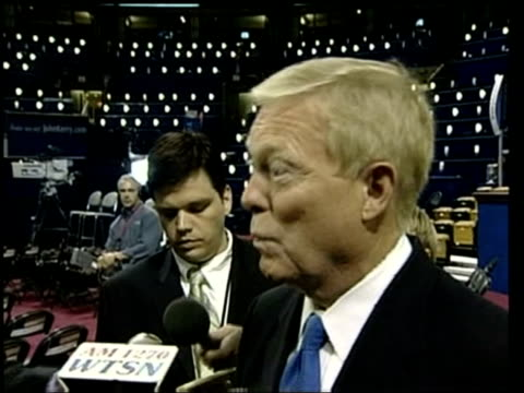 stockvideo's en b-roll-footage met congressman richard gephardt interview sot - if he can get america to see him the way i see him he'll win - congreslid
