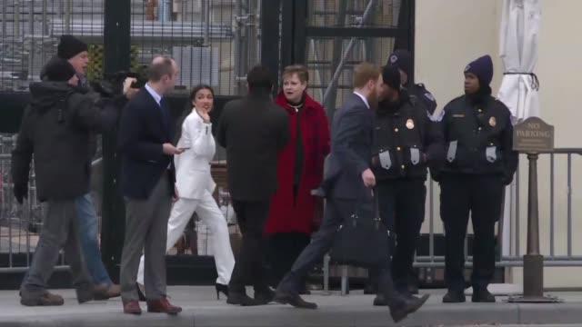 Congresswoman elect Alexandria Ocasio Cortez arriving on Capitol Hill ahead of the 116th Congress