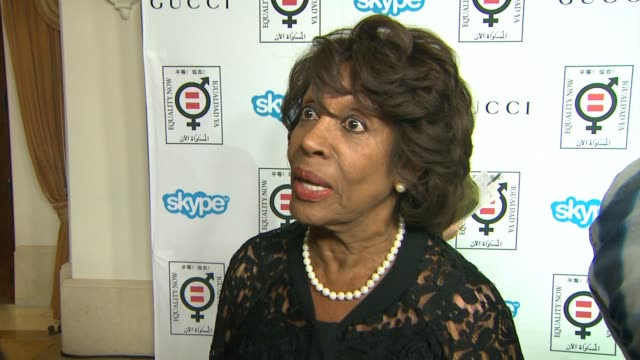 interview congresswoman maxine waters on why it's important for her to support equality now her advice on how to make equality a reality and thoughts... - equality now stock videos and b-roll footage