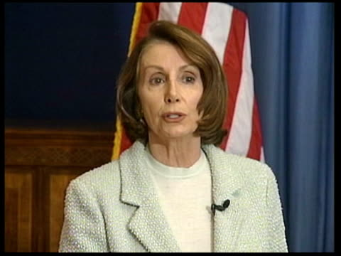 congresswoman nancy pelosi along to podium congresswoman nancy pelosi press conference sot president's reckless economic policies have produced... - nancy pelosi stock videos and b-roll footage