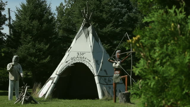 A conical tent traditionally used by Native American tribes