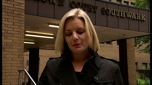Conman jailed for South Kensington property sale scam Southwark Crown Court Reporter to camera Tony Holden interview SOT Donne Place General view of...