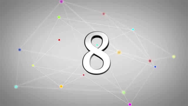 connected countdown - nummer 6 bildbanksvideor och videomaterial från bakom kulisserna