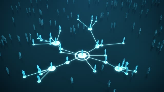 connected people (dark, blue) - social media, networking - coronavirus, epidemiology, infectious disease - social gathering stock videos & royalty-free footage