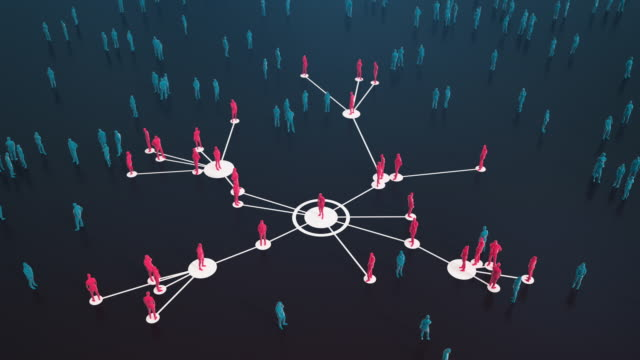 connected people (dark, red) - social media, networking - coronavirus, epidemiology, infectious disease - infectious disease stock videos & royalty-free footage