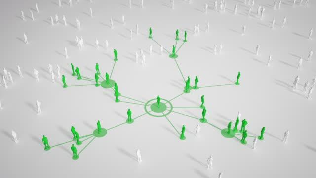 vídeos de stock e filmes b-roll de connected people (bright, green) - social media, networking - coronavirus, epidemiology, infectious disease - social media