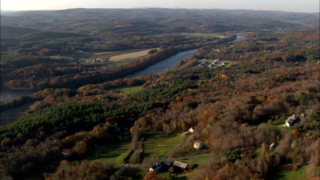 Connecticut River  - Aerial View - New Hampshire,  Cheshire County,  United States