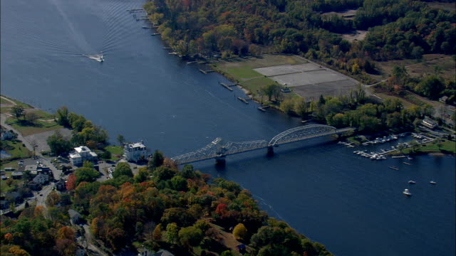 Connecticut River And East Haddam Bridge  - Aerial View - Connecticut,  Middlesex County,  United States
