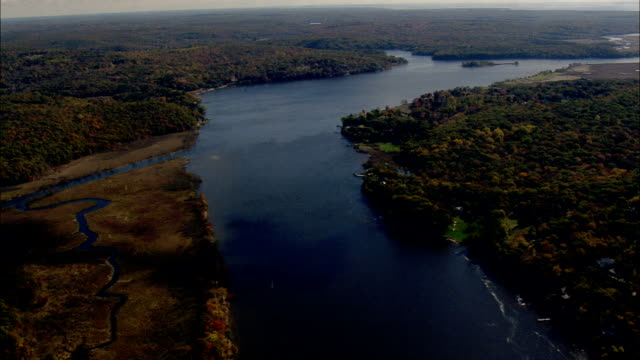 Connecticut River North Of Essex Village  - Aerial View - Connecticut,  Middlesex County,  United States
