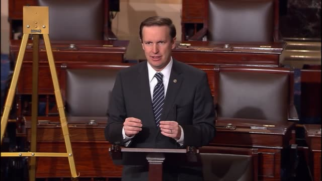 connecticut senator chris murphy argues against confirming congressman tom price for health and human services secretary, saying that it is unclear... - human face video stock e b–roll