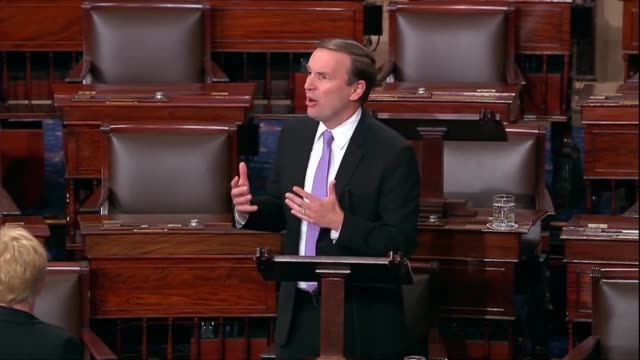 connecticut senator chris murphy says in floor debate on the supreme court nomination of judge brett kavanaugh that members were left searching for a... - judge stock videos & royalty-free footage