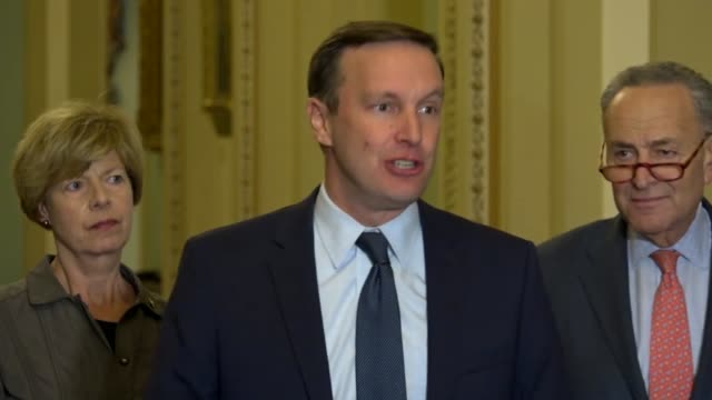 connecticut senator chris murphy tells reporters at a weekly briefing that republicans had passed a partial repeal of the affordable care act that... - 状態点の映像素材/bロール