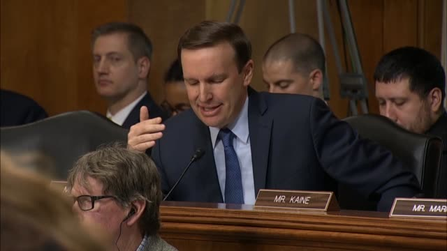 Connecticut Senator Chris Murphy tells Secretary of State Mike Pompeo at a Senate Foreign Relations Committee hearing that the budget request had...