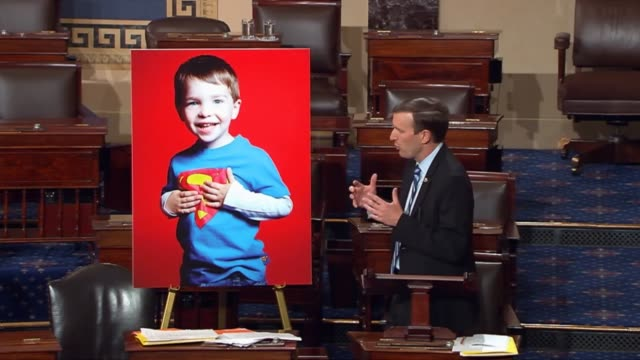 connecticut senator christopher murphy ends a nearly 15 hour filibuster to focus attention on gun violence by thanking those who persisted that... - sandy hook elementary school stock videos & royalty-free footage
