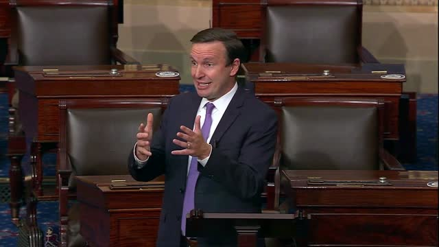 vídeos de stock, filmes e b-roll de connecticut senator christopher murphy says a week after the 2020 election that for president donald trump there is no downside to contesting the... - political action committee