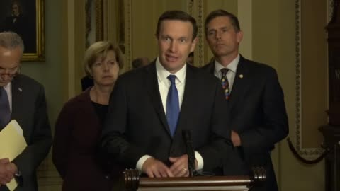 connecticut senator christopher murphy tells reporters at a weekly news conference that drug companies a veto power, insurance companies dictate the... - law stock-videos und b-roll-filmmaterial