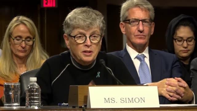 Connecticut Senator Richard Blumenthal asks Lou Anna Simon at a Senate Commerce subcommittee hearing on abuse of the Catholics what she could have...
