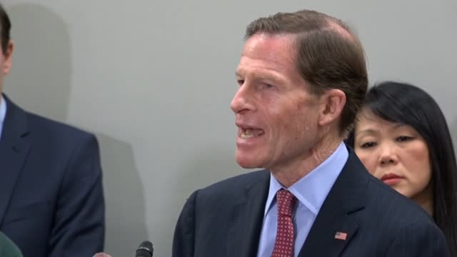 Connecticut Senator Richard Blumenthal says at a news conference on gun violence that in the next Congress they would be members of the House of...
