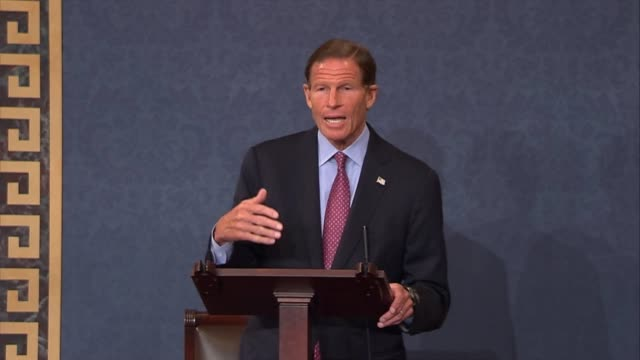 connecticut senator richard blumenthal says that the fbi director does not serve at the pleasure of the president alone but the constitution and the... - christopher a. wray stock videos & royalty-free footage