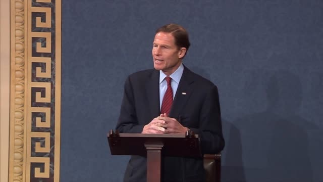 connecticut senator richard blumenthal says the families of those slain at sandy hook elementary school in newtown are the overriding image in... - newtown connecticut stock videos & royalty-free footage