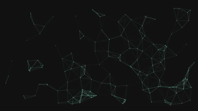 vídeos y material grabado en eventos de stock de conexión de puntos, redes neuronales, diseño digital - biotecnología