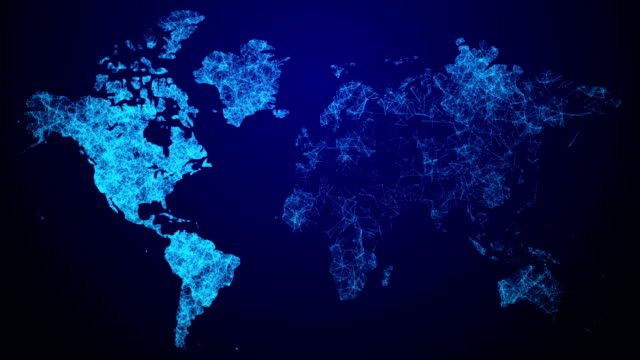 connecting global world map - world map stock videos & royalty-free footage