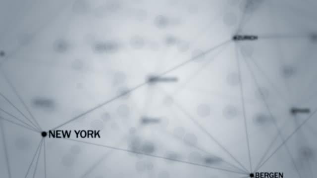vídeos de stock, filmes e b-roll de conexão - cidades - joining the dots