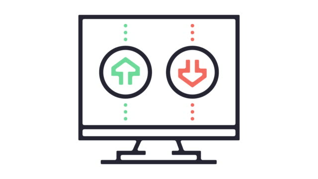 接続速度ライン アイコン アニメーション - 分析機器点の映像素材/bロール
