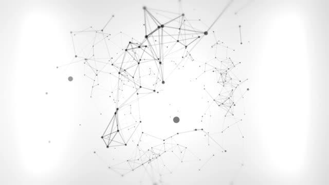 Verbindungen zwischen Partikeln Endlos wiederholbar Hintergrund Filmmaterial
