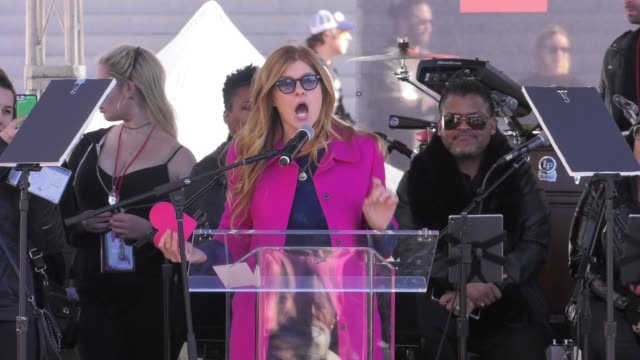 SPEECH Connie Britton at 2018 Women's March Los Angeles on January 20 2018 in Los Angeles California