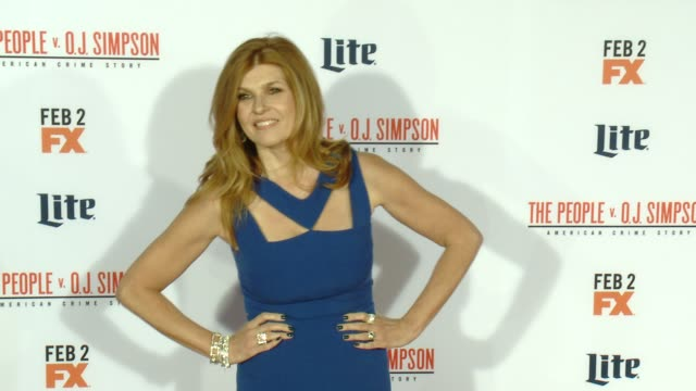 connie britton at fx's the people v oj simpson american crime story premiere at westwood village theatre on january 27 2016 in westwood california - westwood village stock-videos und b-roll-filmmaterial