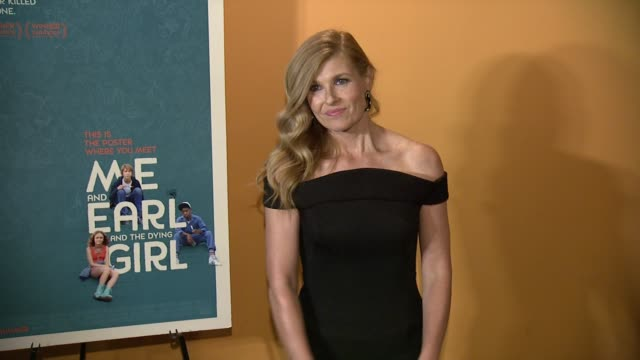 """connie britton at """"me and earl and the dying girl"""" new york premiere at sunshine landmark on june 09, 2015 in new york city. - ランドマークサンシャインシアター点の映像素材/bロール"""