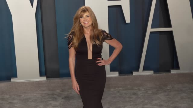 connie britton at vanity fair oscar party at wallis annenberg center for the performing arts on february 9 2020 in beverly hills california - vanity fair oscarparty stock-videos und b-roll-filmmaterial