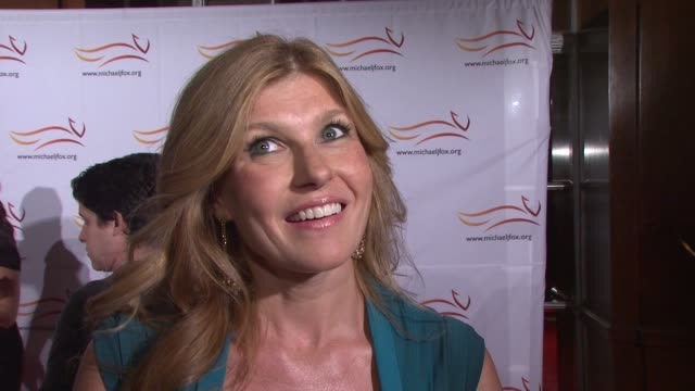 connie britton says she worked with michael j. fox on spin city for four years, she was around when he found out he had parkinson's. at the 2010 a... - television show stock videos & royalty-free footage