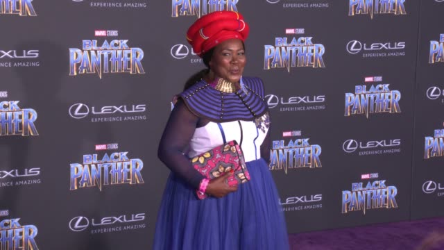 Connie Chiume at the Marvel Studios' 'Black Panther' World Premiere at Dolby Theatre on January 29 2018 in Hollywood California