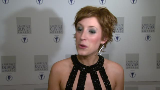 Connie Fisher on her tips for those girls auditioning for the role of Nancy in 'Oliver' at the The Laurence Olivier Awards at the Grosvenor House in...