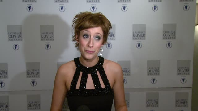 Connie Fisher on performing at the awards at the The Laurence Olivier Awards at the Grosvenor House in London on March 9 2008