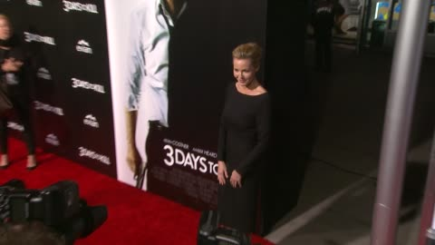 """connie nielsen at """"3 days to kill"""" los angeles premiere at arclight cinemas on in hollywood, california. - arclight cinemas hollywood stock videos & royalty-free footage"""
