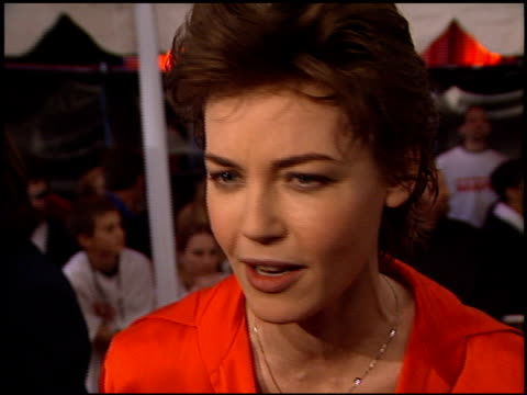 connie nielsen at the 'mission to mars' premiere at the el capitan theatre in hollywood, california on march 6, 2000. - el capitan theatre stock videos & royalty-free footage
