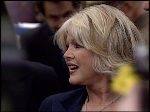 connie stevens at the bob hope honored with hollywood walk of fame plaque at hollywood boulevard in hollywood, california on april 15, 2003. - ボブ ホープ点の映像素材/bロール
