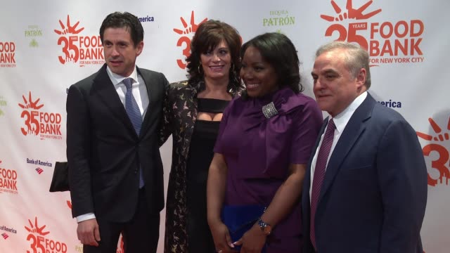 Connie Verducci Margarette Purvis Lee Brian Schrager at 2018 Food Bank For New York City's Can Do Awards Dinner at Cipriani Wall Street on April 17...