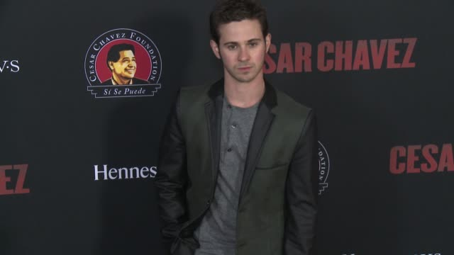 """connor paolo - """"cesar chavez"""" los angeles premiere at tcl chinese theatre on march 20, 2014 in hollywood, california. - tcl chinese theatre stock videos & royalty-free footage"""