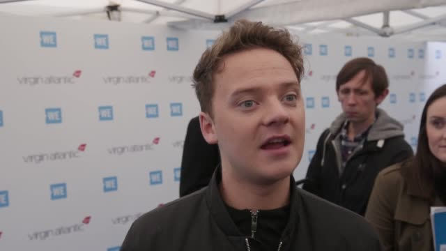 Conor Maynard on the WE Day blue carpet in Wembley Over 12000 students and teachers who have made a difference in their local and global communities...