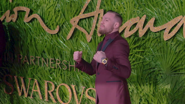 Conor McGregor at The Fashion Awards 2017 at Royal Albert Hall on December 04 2017 in London England