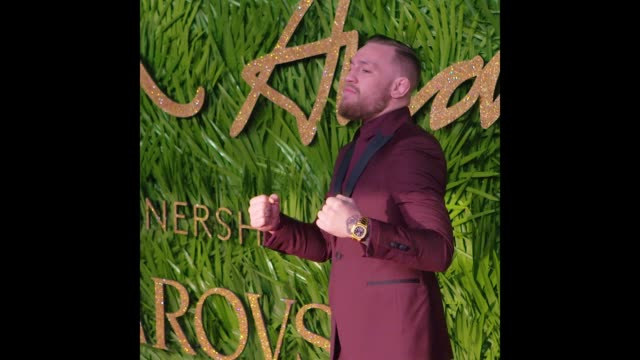 Conor McGregor at The Fashion Awards 2017