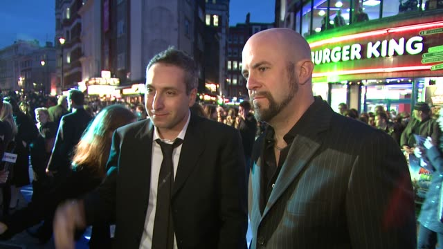 conrad vernon and rob letterman at the monsters vs aliens uk premiere at london - letterman stock videos & royalty-free footage